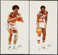 Basketball Cards:Lots, Lot of 2 Sets of Basketball Promotional Cards, 1971-1973 (23). Sonics and Bullets....