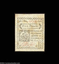 Colonial Notes:Connecticut, Connecticut October 11, 1777 5d Gem New. This blue-paper ...