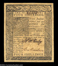 Colonial Notes:Delaware, Delaware January 1, 1776 4s Very Choice New. A broadly ...