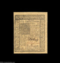 Colonial Notes:Delaware, Delaware January 1, 1776 6s Superb Gem New. A crackling ...