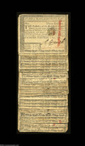 Colonial Notes:Massachusetts, Original Group of Hole-Cancelled Massachusetts $3 Guaranteed ... (25 notes)