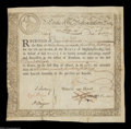 Colonial Notes:Massachusetts, Massachusetts Treasury Certificate. A second, essentially ...