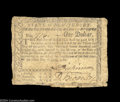 Colonial Notes:New Jersey, New Jersey June 9, 1780 $1 Fine. Heavily circulated but ...