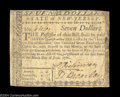 Colonial Notes:New Jersey, New Jersey June 9, 1780 $7 Very Fine. Fully signed and ...
