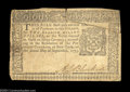 Colonial Notes:New York, New York September 2, 1775 $2 Very Fine Damaged. This very ...