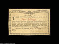 Colonial Notes:New York, New York January 6, 1777 4s Gem New. Beautifully bright, ...