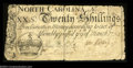 Colonial Notes:North Carolina, North Carolina March 9, 1754 20s Very Fine. There is no ...