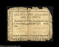 North Carolina April 23, 1761 2s6d Very Good. Poorly margined, with some roughness at the top, the note appears to have...