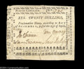 Colonial Notes:North Carolina, North Carolina April 23, 1761 20s Extremely Fine. A solid ...