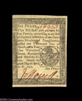 Colonial Notes:Pennsylvania, Pennsylvania April 10, 1777 6d Choice New. There is a ...