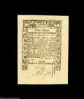 Colonial Notes:Rhode Island, Rhode Island May, 1786 9d Superb Gem New. Broadly margined,...