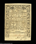 Colonial Notes:Rhode Island, Rhode Island May 1786 3s Choice About New. A nice example ...