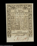 Colonial Notes:Rhode Island, Rhode Island May 1786 6s Gem New. A pristine example of ...