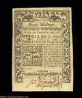 Colonial Notes:Rhode Island, Rhode Island May 1786 40s Choice About New. Well signed, ...