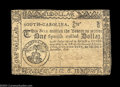 Colonial Notes:South Carolina, South Carolina December 23, 1776 $1 Extremely Fine. ...