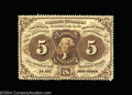Fractional Currency:First Issue, Fr. 1229 5c First Issue Choice About New. Nicely margined ...