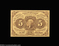 Fractional Currency:First Issue, Fr. 1230 5c First Issue Superb Gem New. Ideal paper ...