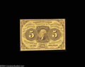 Fractional Currency:First Issue, Fr. 1230 5c First Issue Very Choice New. Nice original ...