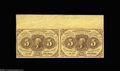 Fractional Currency:First Issue, Fr. 1230 5c First Issue Horizontal Pair Choice New. ...