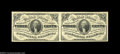 Fractional Currency:Third Issue, Fr. 1227 3c Third Issue Horizontal Pair Very Choice New. ...