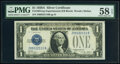 Small Size:Silver Certificates, Fr. 1601 $1 1928A Silver Certificate. Z-B Experimental. PM...
