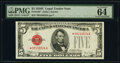 Small Size:Legal Tender Notes, Fr. 1530* $5 1928E Legal Tender Star Note. PMG Choice Unci...
