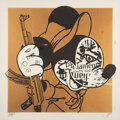 Prints & Multiples, Bast (20th century). Revolution Mickey, 2007. Screenprint in colors with pencil on wove paper. 26-1/2 x 26-3/4 inches (6...