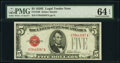 Small Size:Legal Tender Notes, Fr. 1530 $5 1928E Legal Tender Note. PMG Choice Uncirculat...
