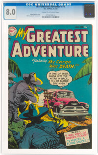 My Greatest Adventure #1 (DC, 1955) CGC VF 8.0 Cream to off-white pages