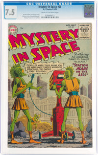 Mystery in Space #25 (DC, 1955) CGC VF- 7.5 Cream to off-white pages