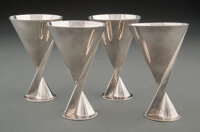 Maison Desny (French, est. 1922) Group of Four Cocktail Cups Silver 4-1/2 x 3 inches (11.4 x 7.6 ... (Total: 4)
