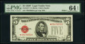 Small Size:Legal Tender Notes, Fr. 1531* $5 1928F Wide I Legal Tender Star Note. PMG Choi...