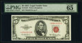 Small Size:Legal Tender Notes, Fr. 1532* $5 1953 Legal Tender Star Note. PMG Gem Uncircul...
