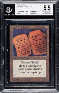 Magic: The Gathering Copper Tablet Alpha Edition (Wizards of the Coast, 1993) BGS EXCELLENT+ 5.5