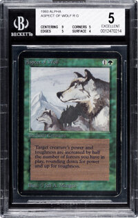 Magic: The Gathering Aspect of Wolf Alpha Edition (Wizards of the Coast, 1993) BGS EXCELLENT 5
