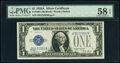 Small Size:Silver Certificates, Fr. 1601 $1 1928A Silver Certificate. J-B Block. PMG Choic...