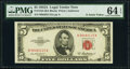 Small Size:Legal Tender Notes, Fr. 1533 $5 1953A Legal Tender Note. PMG Choice Uncirculated 64 EPQ.. ...