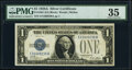 Small Size:Silver Certificates, Fr. 1601 $1 1928A Silver Certificate. E-A Block. PMG Choic...