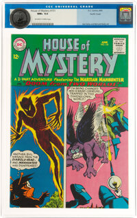 House of Mystery #151 Pacific Coast Pedigree (DC, 1965) CGC NM+ 9.6 White pages