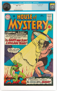 House of Mystery #153 Pacific Coast Pedigree (DC, 1965) CGC NM+ 9.6 Off-white to white pages
