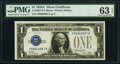 Small Size:Silver Certificates, Fancy Serial Number 66666687 Fr. 1601 $1 1928A Silver Cert...