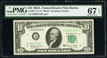 Small Size:Federal Reserve Notes, Fr. 2017-A* $10 1963A Federal Reserve Star Note. PMG Superb Gem Unc 67 EPQ.. ...