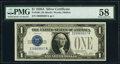 Small Size:Silver Certificates, Fr. 1601 $1 1928A Silver Certificate. PMG Choice About Unc...