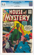 Silver Age (1956-1969):Horror, House of Mystery #74 (DC, 1958) CGC VF/NM 9.0 Cream to off-white pages....