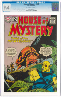 House of Mystery #123 Savannah Pedigree (DC, 1962) CGC NM 9.4 Off-white to white pages