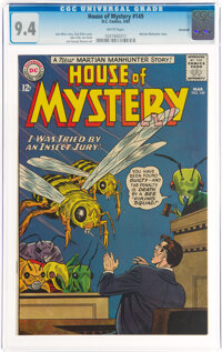 House of Mystery #149 Savannah Pedigree (DC, 1965) CGC NM 9.4 White pages