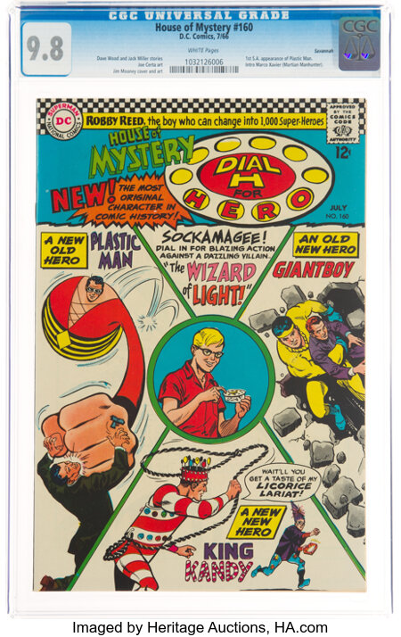 House of Mystery #160 Savannah Pedigree (DC, 1966) CGC NM/MT 9.8 White pages....