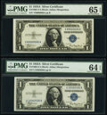 Small Size:Silver Certificates, Fr. 1608 $1 1935A Silver Certificate. PMG Gem Uncirculated...