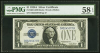 Fr. 1601 $1 1928A Silver Certificate. PMG Choice About Unc 58 EPQ