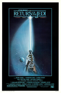 """Return of the Jedi (20th Century Fox, 1983). Rolled, Near Mint-. One Sheets (42) Identical (27"""" X 41"""") with Or..."""